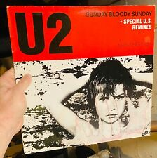 "U2 Sunday Bloody Sunday New Year's Day Two Hearts Beat as One 12"" Vinyl RARE"