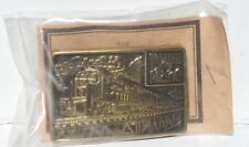 vintage Western Pacific Railroad Safety Award Belt Buckle