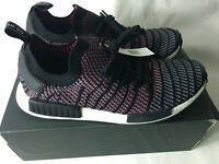 NEW Adidas NMD_R1 STLT PK Mens Shoes Black/Grey/Solar Pink CQ2386 BOOST Size 13