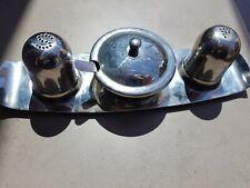Stainless steel vintage cruet set