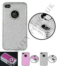 Crystal Diamond Glitter Cover Bling Chrome For iphone 5S,5 Case free protector