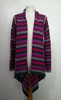 EAST Size 10 PURPLE,GREY,PINK Open DRAPE WOOL,ANGORA,CASHMERE Blend CARDIGAN