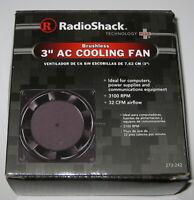 Radio Shack 80 mm Aluminum Cooling Fan - 115 V AC - 60 Hz - 31 CFM - 3100 RPM
