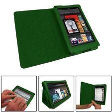 Finta Pelle Verde Folio LIBRO Wallet Stand Case Cover per Amazon Kindle Fire HD