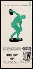 1946 Jolly Green Giant discus thrower art Green Giant Peas vintage print ad
