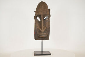 """Dogon Face Mask 19.5"""" on Stand - Mali - African Art"""