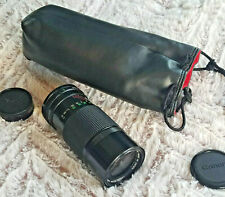 Canon FD 70-150mm Zoom Lens 1:4.5 Made in Japan + Padded Carry Pouch/Bag