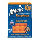 2 Pack Mack's 10 Pillow Soft Ear Plugs Kid Size Swimming Waterproof Pack 6 Each