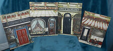4 LOVELY CAFE/BISTRO STREET FRONT PICTURES/PAINTINGS ON CANVAS! ITALY! FRANCE!