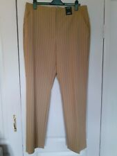 18 L Autograph Beautiful Tailored High Rise Straight Leg Trouser Camel Brown NEW