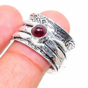 Mozambique Garnet Gemstone Handmade 925 Sterling Silver Jewelry Ring Size 7 c480