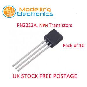 10 x PN2222A, NPN Transistors UK Stock