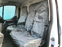 CITROEN RELAY - VAN SEAT COVERS GREY HEAVY DUTY WATERPROOF 2-1 SINGLE + DOUBLE