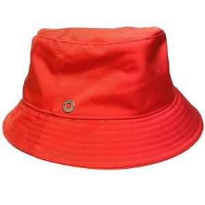 LORO PIANA Womens Storm System Wind Bucket Hat Red (MSRP $350)