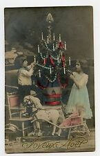 JOYEUX NOËL . Sapin . Jouets anciens . Christmas tree . Old toys