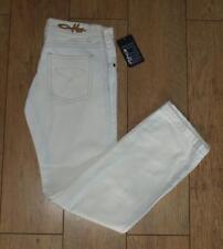 """BNWT Para Mujer Oakley Slash Jeans W29"""" L34"""" Blanco Tiro Bajo Suelto De Pierna Rrp £ 80 Nuevo"""