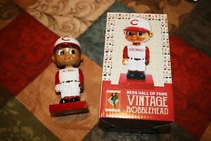 Cincinnati Reds Bobbleboy singed on cap by Leo Cardenas Mr. Automatic with COA