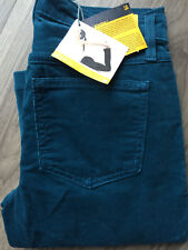 NWT Womens Second Yoga Jeans Skinny Sz 27 Blue Green Corduroy High Rise SWP-1269