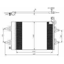 Kondensator Klimaanlage - NRF 35480
