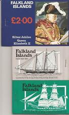 FALKLAND ISLANDS-3 unexploded full booklets, unlisted