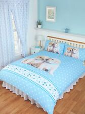 Luke and Leia Puppies Double Duvet Set Animals Cute Dogs Labrador Blue
