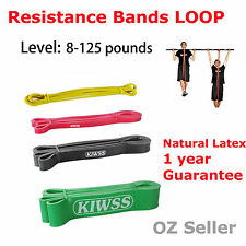 SET OF 4 2.08m POWER Heavy Duty RESISTANCE BAND  LOOP Yoga Fitness Workout