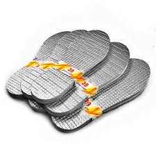 1-5-10 Paar ALU Thermo Sohlen  isolierende Einlegesohlen Schuheinlage SCHWARZ
