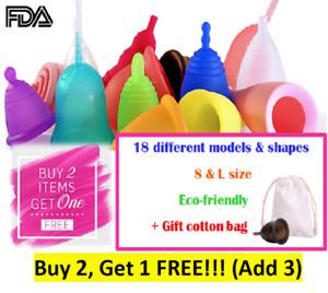 Menstrual Period Cup Eco-friendly Reusable 100%Silicone Medical Feminine Hygiene