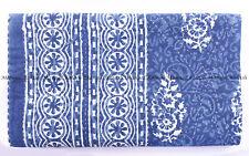 Indian tree indigo kantha quilt handmade bedding bedspread king blanket throw