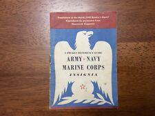 WWII 1943 BROCHURE Readers Digest NEWSWEEK US Army Navy Marine Corps INSIGNIA