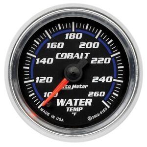 """Auto Meter 6155 2-1/16"""" Cobalt Electric Water Temperature Gauge 100-260°F NEW"""