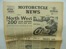 1960 Motorcycle News Newspaper Triumph North West 200 Allen Shepherd L6933