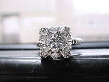 HEAVY PLATINUM DIAMOND  1.25CTW. VS1/H WEDDING/ENGAGEMENT  RING 6.25