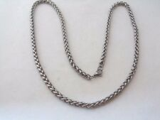 """NEW MANS WHEAT BRAIDED CHAIN NECKLACE 30"""" 6MM WIDE LOBSTER CLAW CLASP"""