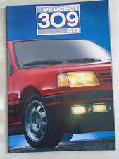Peugeot 309 GTI GAMA FOLLETO ABRIL 1987 italiano de texto