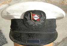 Grace Steamship Line / Airline 1940s Visor Hat - Enameled Badge