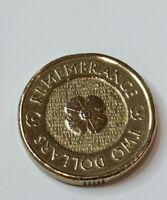 2012 Australia Remembrance Poppy 2 Dollar coin UNC