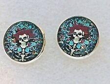 Grateful Dead Bertha Round Post Stud Earrings Deadhead Jewelry