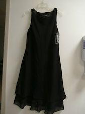 Jones New York Women's Black Beaded hemline A-Line Evening Dress Size 12