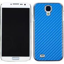 Custodia Rigida Samsung Galaxy S4 aspetto di carbonio blu