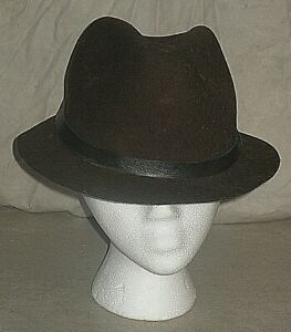 VINTAGE STETSON MALLORY OUTLAND WESTERN BROWN WOOL HAT MEN'S LARGE 7 1/4 7 3/8