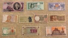 10 World Banknotes From 10 Different Countries. Every Note Different.