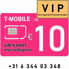 VIP-nummer 06 344 03 348 makkelijk mobiel 06-nummer T-Mobile SIM-kaart prepaid