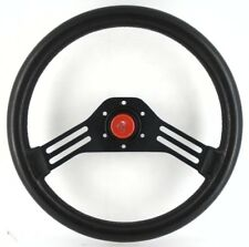 Genuine Abarth black steering wheel and red horn, 350mm.  Fiat Lancia Alfa    7E