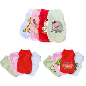 Cartoon Small Dog T-Shirt Vest Soft Pet Puppy Cat Summer Clothes Coat Top Outfit