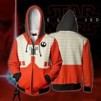 Star Wars Hoodies Unisex Hooded 3D Print Sweatshirts Zipper Jacket Casual Coat