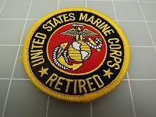"BRAND NEW United States Marine Corps RETIRED USMC LOGO Patch 3"""