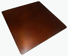 Mexican Square Copper Table Top Hand Hammered 48 Inches Brown Patina