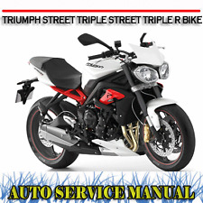 TRIUMPH STREET TRIPLE STREET TRIPLE R BIKE WORKSHOP SERVICE REPAIR MANUAL ~ DVD