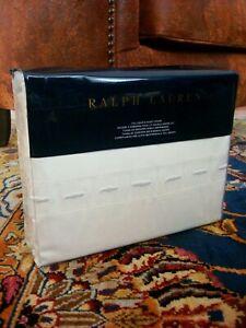 NWT Ralph Lauren Islesboro HILLSBORO Embroidered Full Queen Duvet Cover Cream
